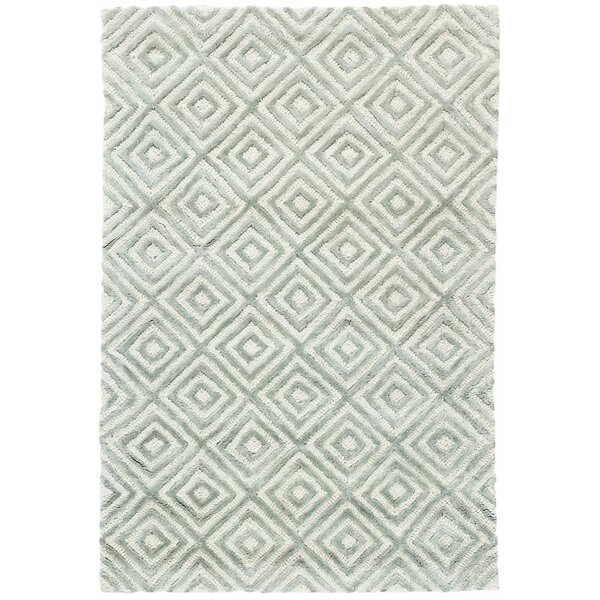 Cut Diamond Ocean Hand-Woven Gray Area Rug by Dash and Albert Rugs