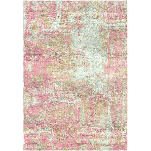 Ashford Handloom Pink/Green Area Rug by Ivy Bronx