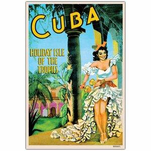 'Cuba Holiday Isle' Vintage Advertisement on Canvas by Trademark Fine Art