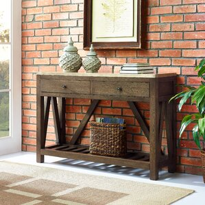 Sagel Wrapped Two Drawer Accent Console Table by Gracie Oaks