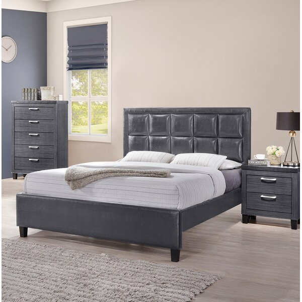 Spitzer Queen Upholstered Platform Bed by Wrought Studio