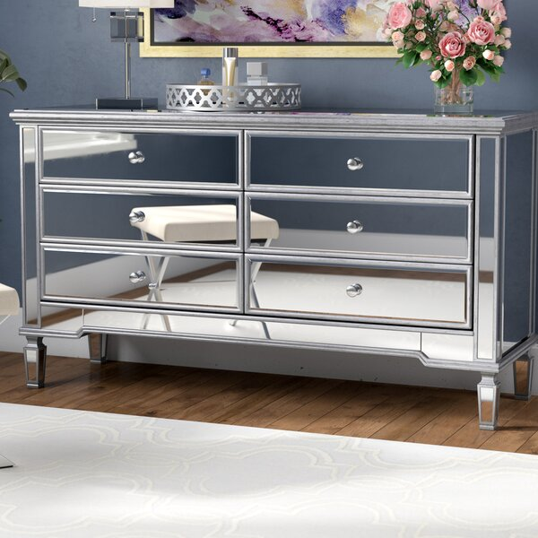Best  Emerita 6 Drawer Double Dresser By Rosdorf Park Coupon