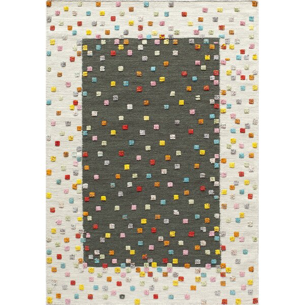 Chesterfield Hand-Woven Charcoal Area Rug by Harriet Bee