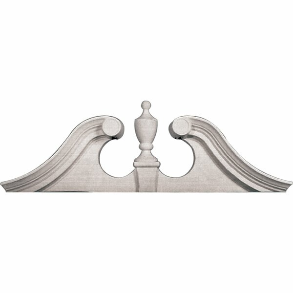 20H x 62 3/8W x 5/8D Scroll Urn Pediment by Ekena Millwork