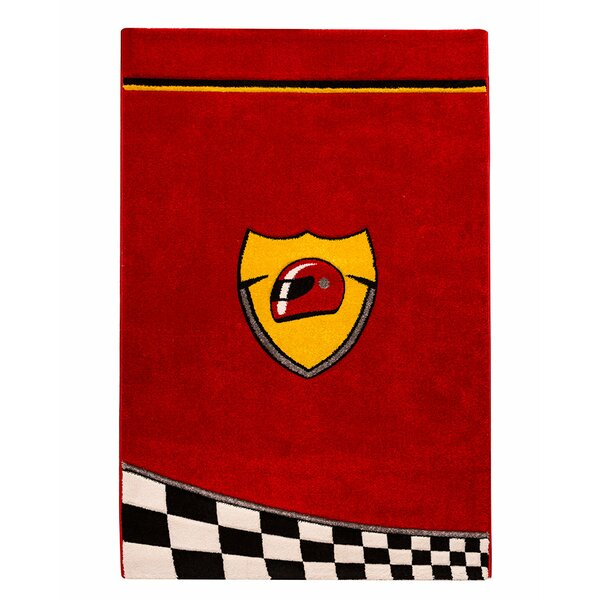Champion GTI Racer Red/Yellow Area Rug by Cilek