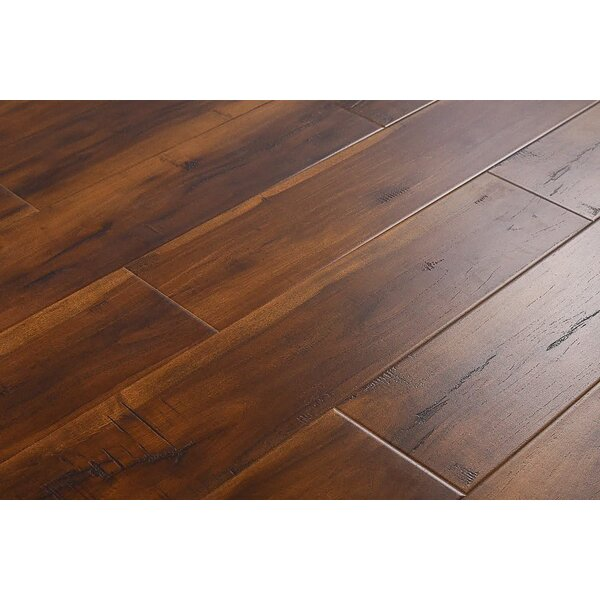 Arjean 6 x 48 x 12mm Hickory Laminate Flooring in Smokey Brown by Serradon