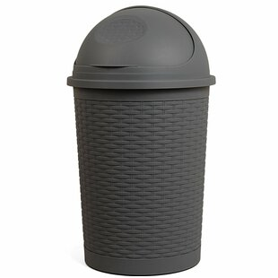 Round Roll Up 10 Gallon Swing Top Trash Can