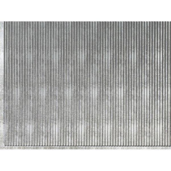 Rib Backsplash Wall Paneling 18 x 24 Field Tile in Crosshatch Silver by MirroFlex