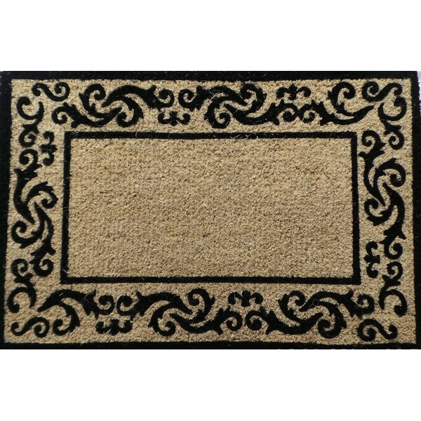 Filigree Border Decorative Doormat by A1 Home Collections LLC