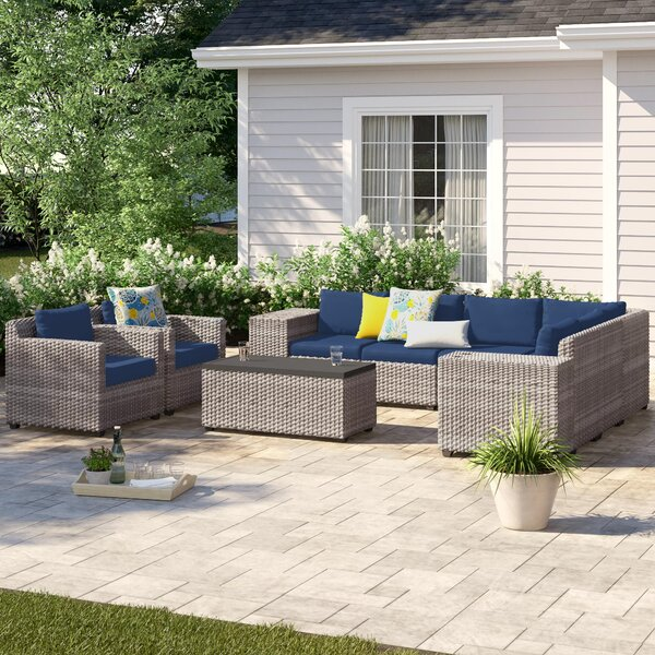 Merlyn 11 Piece Sectional Seating Group with Cushions by Sol 72 Outdoor