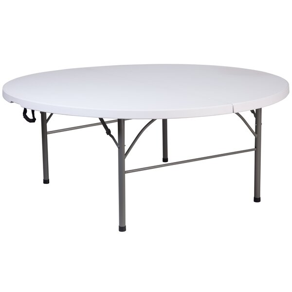 Granite and Plastic 71'' Circular Folding Table by Flash Furniture