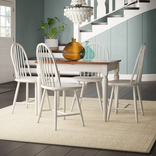 Westwood 5 Piece Solid Wood Dining Set by Breakwater Bay