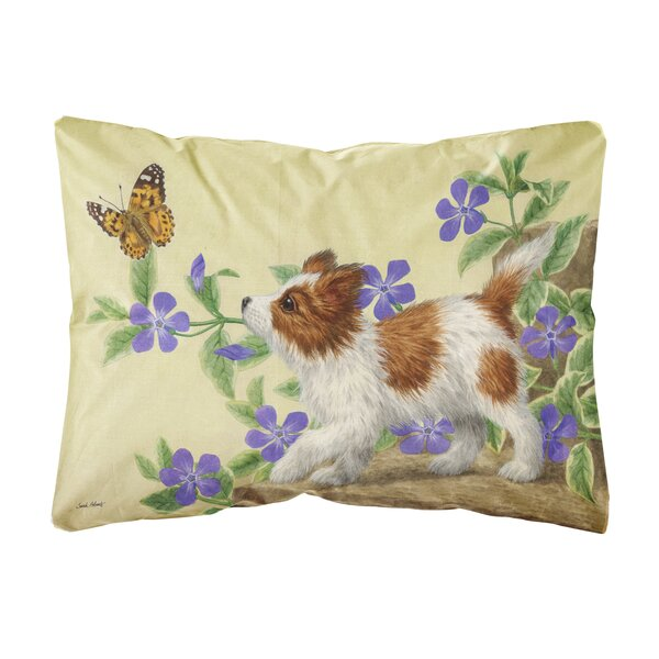 Shriner Papillon Pup Fabric Indoor/Outdoor Throw Pillow by Winston Porter