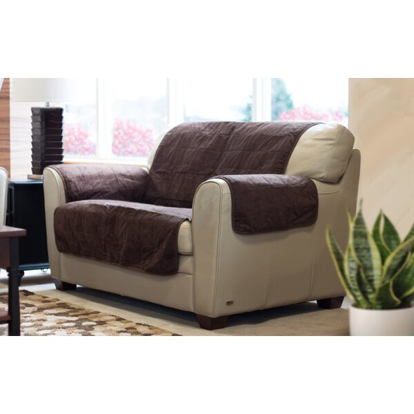 Suede Box Cushion Loveseat Slipcover by FurHaven