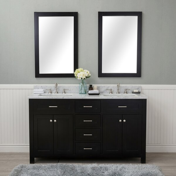 Costin 60 Double Bathroom Vanity Set with Mirror by Red Barrel Studio
