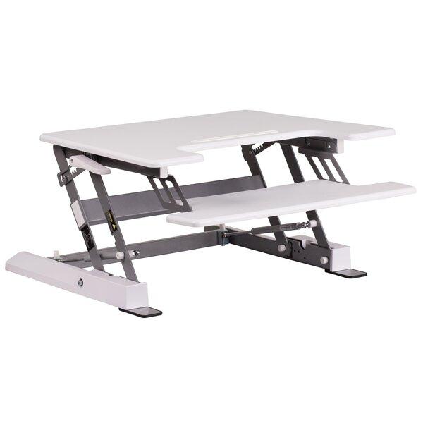 Modern Adjustable Standing Desk Converter by Symple Stuff