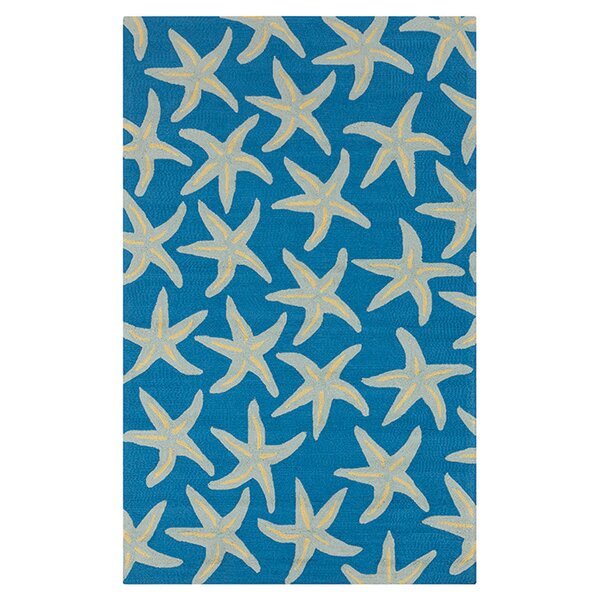Rain Bright Blue Indoor/Outdoor Area Rug by H. Potter