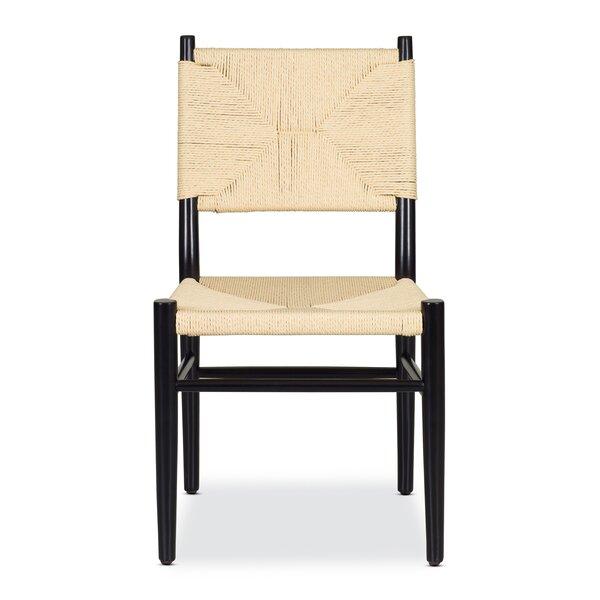 Hermann Solid Wood Side Chair In Beige (Set Of 2) By Bayou Breeze