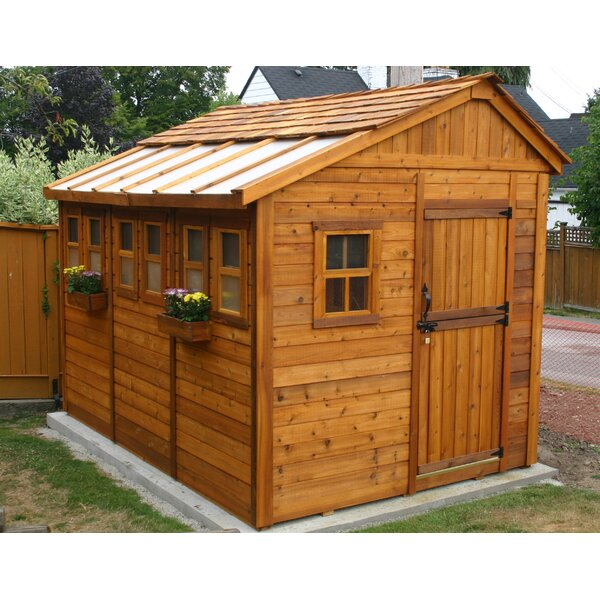 Sunshed 8 ft. W x 12 ft. D Wooden Storage Shed by Outdoor Living Today