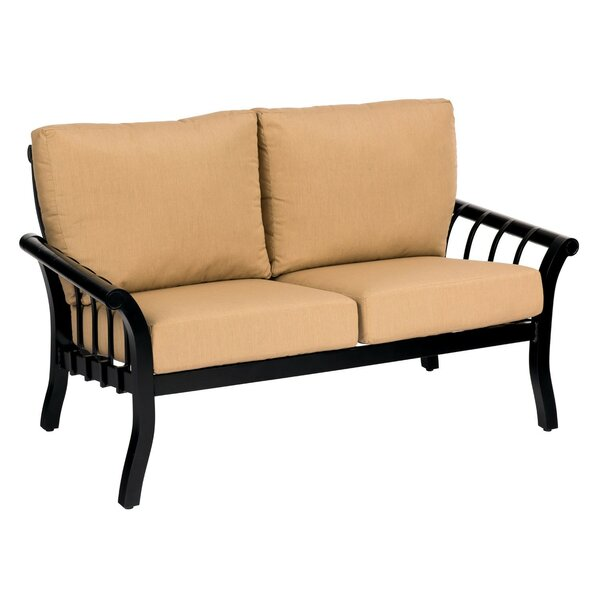 Rhyss Loveseat with Cushions by Woodard