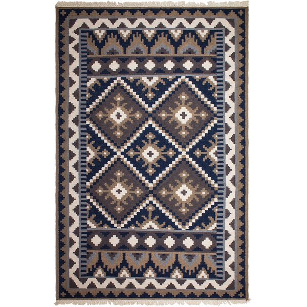 Heritage Hand-Knotted Brown/Blue Area Rug by Fab Habitat