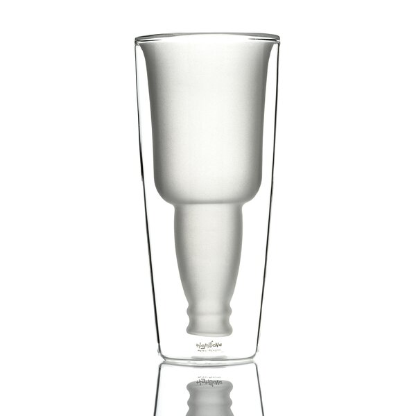 Irish Beer Mug 12 oz. Frosted Double Wall Glass (Set of 2) by Highwave Inc.