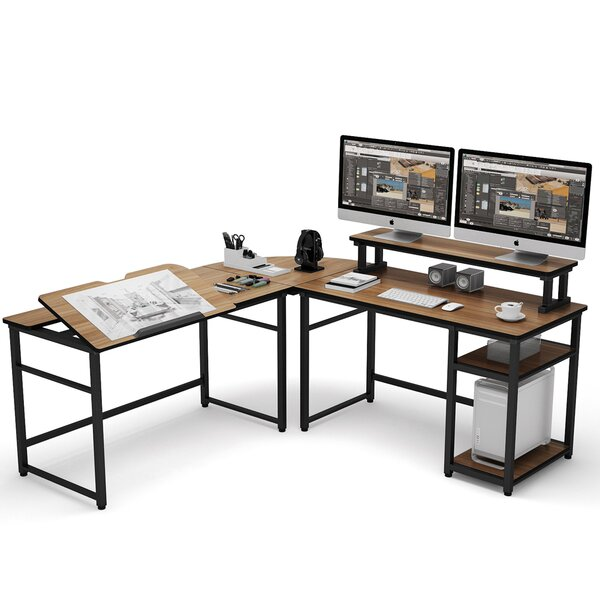 Reversible L-Shape Gaming Desk