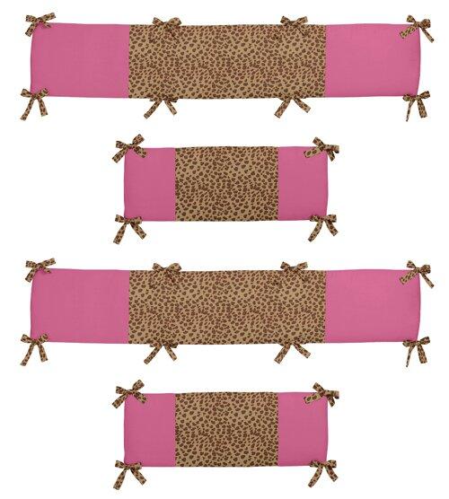 Cheetah Girl Crib Bumper by Sweet Jojo Designs