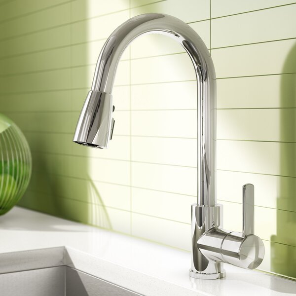 Essential Pull Down Single Handle Kitchen Faucet by Keeney Manufacturing Company