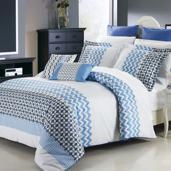 Mykonos 3 Piece Reversible Duvet Cover Set