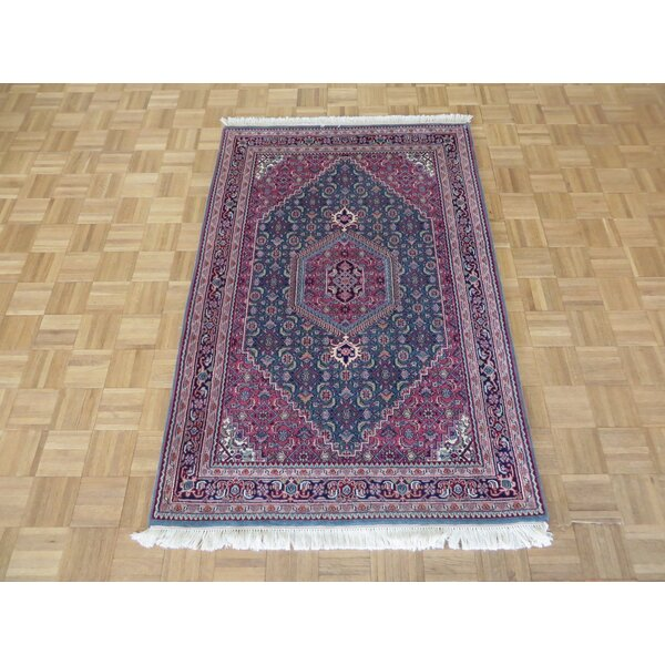 One-of-a-Kind Padro Bijar Hand-Knotted Wool Green Area Rug by Bloomsbury Market