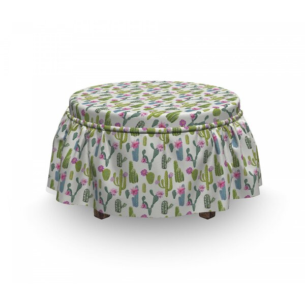 Saguaro Plant Floral Ottoman Slipcover (Set Of 2) By East Urban Home