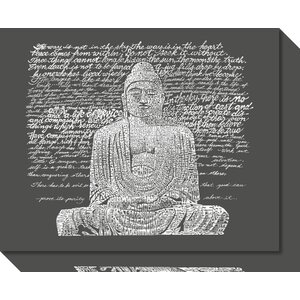 Zen Buddha Sayings Textual Art on Wrapped Canvas by World Menagerie