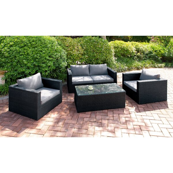 Laurelglen 4 Piece Sofa Seating Group with Cushions by Latitude Run