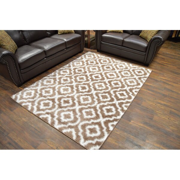 Rauch Shaggy Vizion Brown Area Rug by Bloomsbury Market