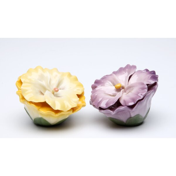 Pansy Salt and Pepper Set by Cosmos Gifts