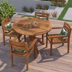 Swanson Wood 5 Piece Dining Set