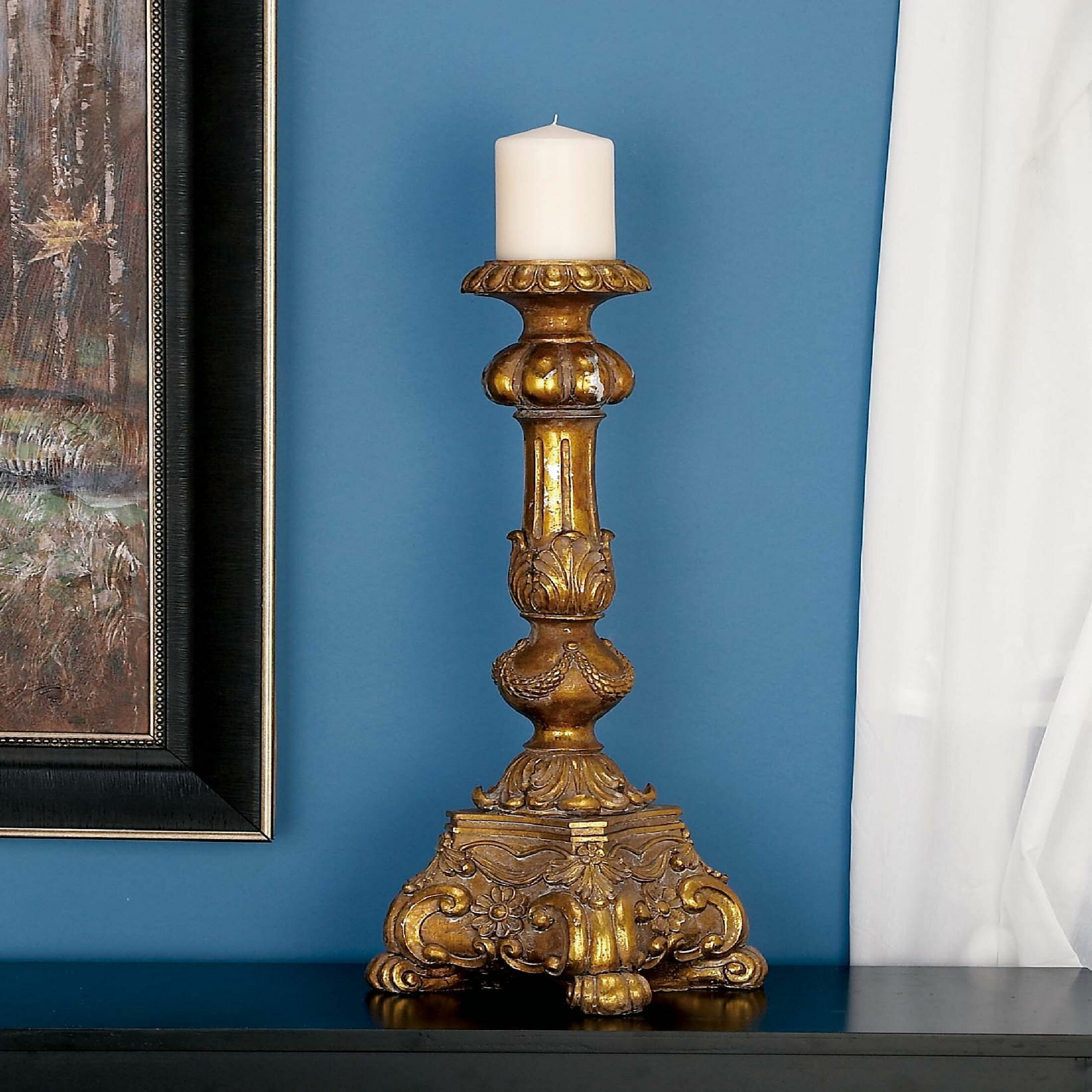 Charlton Home Tall Stone Candlestick Reviews Wayfair
