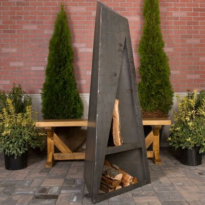 Outdoor Fireplaces You'll Love in 2020 | Wayfair on Quillen Steel Wood Burning Outdoor Fireplace id=31483