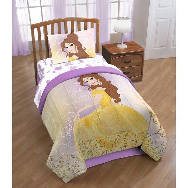 Disney Beauty & the Beast Belle En Rose Twin Polyester 3 Piece Sheet Set by Shopkins