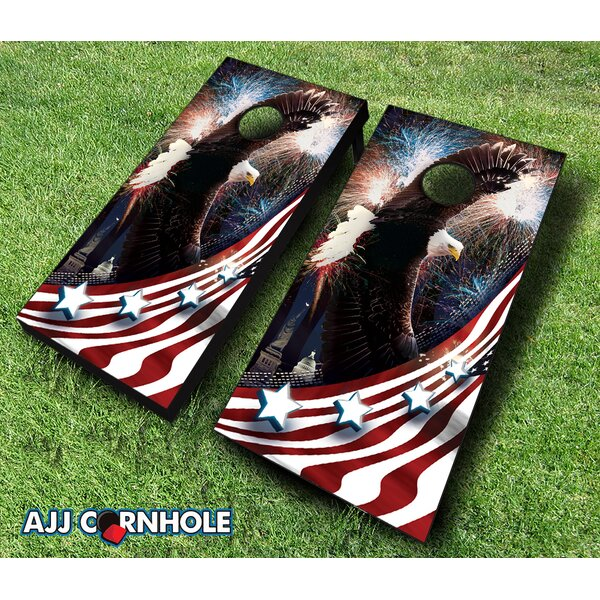 Bald Eagle Cornhole Set by AJJ Cornhole