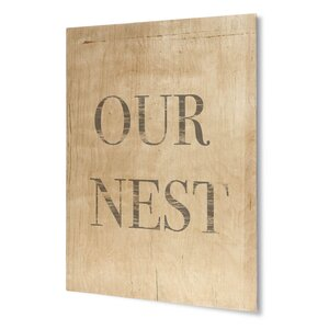 'Our Nest' Textual Art on Plaque by KAVKA DESIGNS