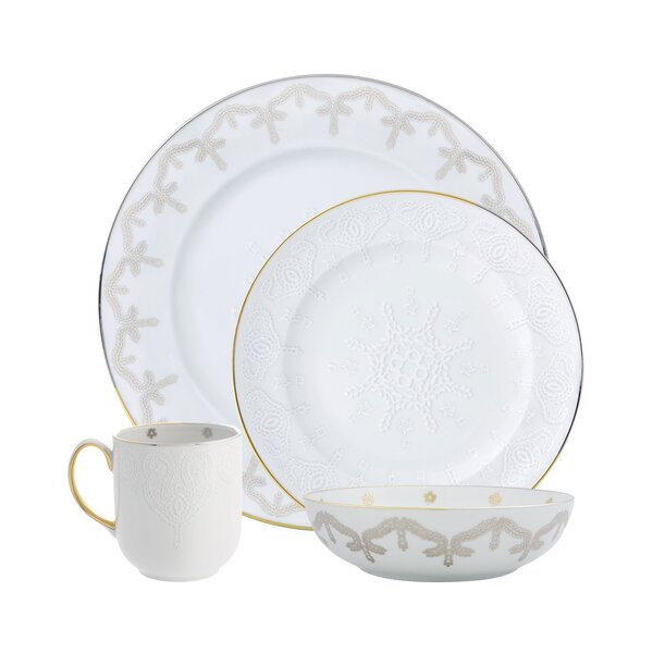 Christian Lacroix Paseo 4 Piece Place Setting, Service for 1 by Vista Alegre