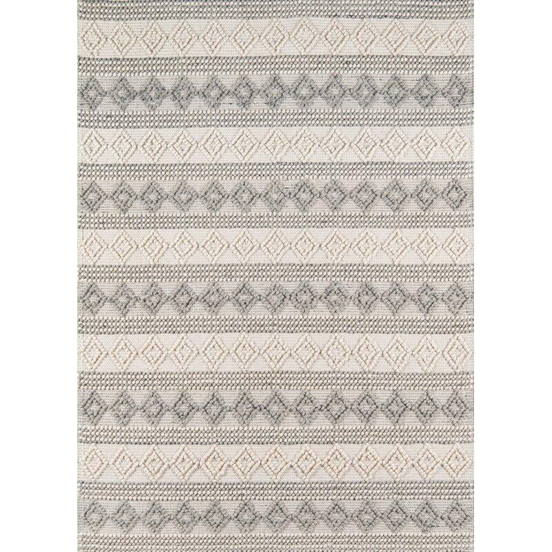 Dorian Geometric Handmade Flatweave Ivory Area Rug Reviews Allmodern