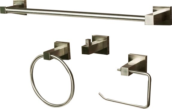 4 Piece Bathroom Hardware Set by Sure-Loc Hardware