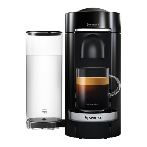 DeLonghi Nespresso Vertuo Plus Deluxe Coffee and Espresso Single-Serve Machine with Aeroccino Milk Frother by Nespresso