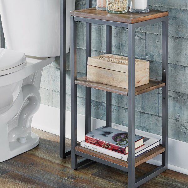 Eckles 13 W x 28.25 H Bathroom Shelf by 17 Stories