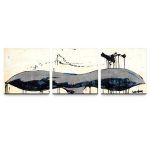 Whale Tail Triptych by TJ Walton 3 Piece Painting Print on Canvas Set by Artefx Decor