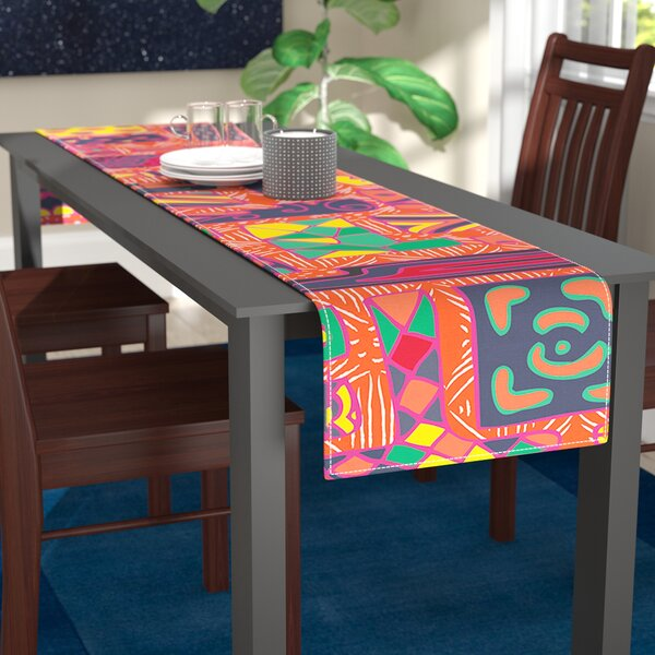 Akwaflorell Squares Table Runner by East Urban Home