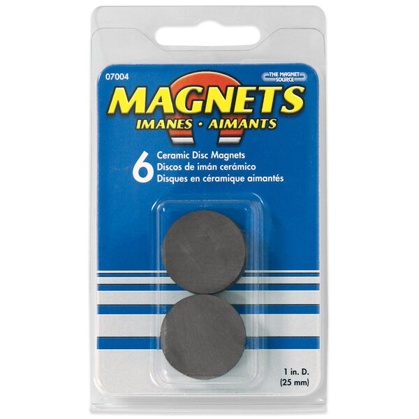 Ceramic Disc Magnets (Pack of 6) by Master Magnetics